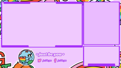 Twitch Overlay Template with a Fun Colorful Layout for an LGBTQ Creator 3586l