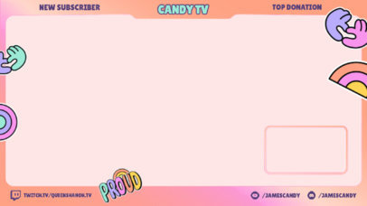 LGBTQ Pride-Themed Twitch Overlay Maker with Fun Sticker Icons 3587e