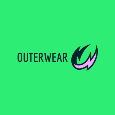 Dropshipping Logo Maker with an Abstract Icon for an Outerwear Brand 4251B