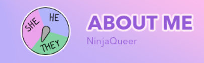 Pronouns-Themed Twitch Panel Template for an LGBTQ Gamer 3587d
