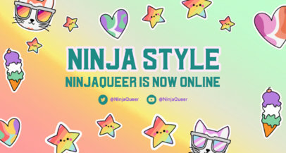 Colorful Twitch Banner Creator Celebrating Genderqueer Pride 3587b