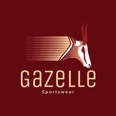 Sportswear Logo Generator Featuring a Gazelle Graphic 4250c