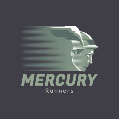 Online Logo Creator for Running Footwear Featuring a Roman's God Mercury Graphic 4250e