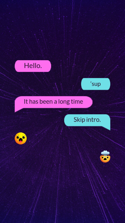 Instagram Story Design Maker Featuring Text Messages 3605