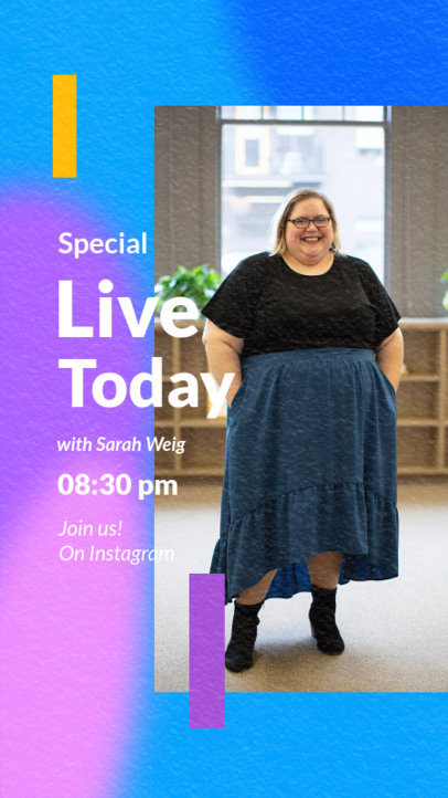 Instagram Story Design Maker for a Live with a Special Guest 3828-el1