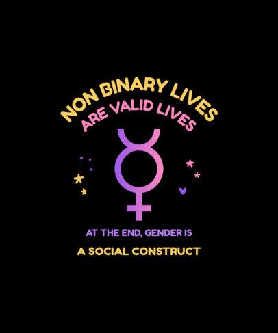 LGBTQ T-Shirt Design Template Celebrating Gender Identity 3834-el1