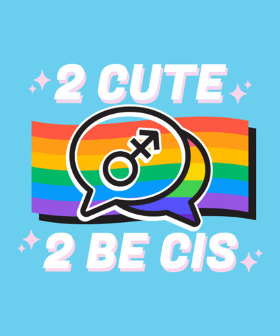Gender-Identity-Themed T-Shirt with a Pride-Themed Graphic 3836C-el1
