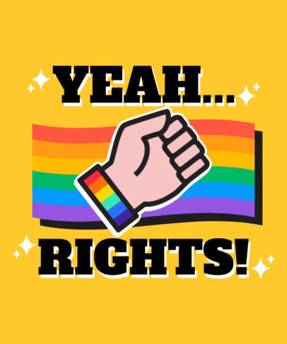 Pride T-Shirt Design Maker with an LGBTQ Rights Theme 3836E-el1