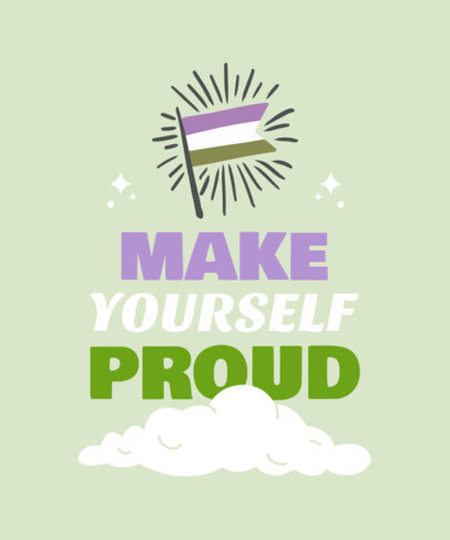Pride T-Shirt Design Template Featuring an Inspiring Quote 3832d-el1