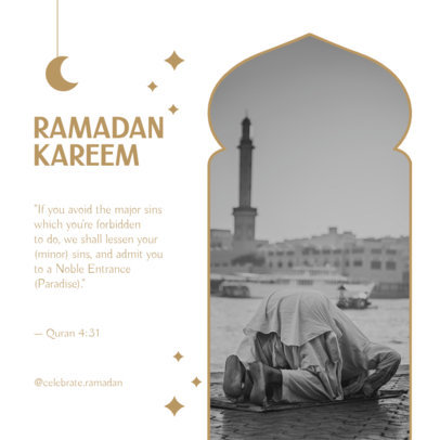 Instagram Post Design Generator Featuring a Ramadan-Themed Message 3879d-el1