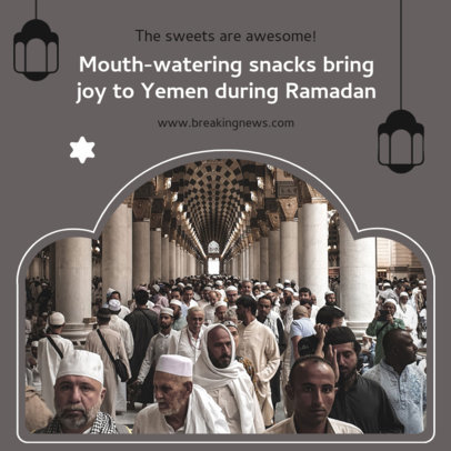 Instagram Post Template with a Ramadan's Interesting Fact 3883e-el1