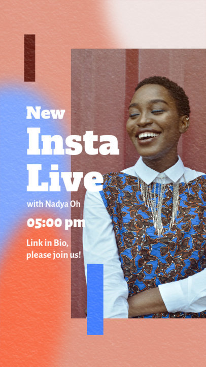 Instagram Story Design Maker with a Trendy Style for a Live Announcement 3828a-el1