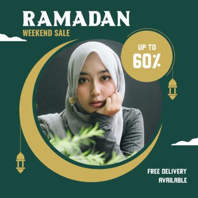 Instagram Post Maker for a Ramadan Weekend Sale 3881a-el1