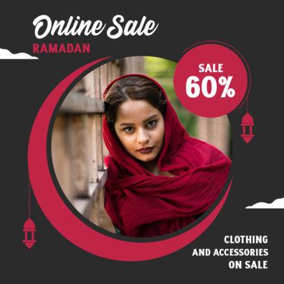 Instagram Post Design Template for a Ramadan Online Sale 3881c-el1