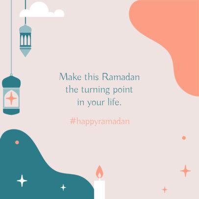 Instagram Post Creator with a Happy Ramadan Hashtag 3612a