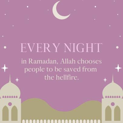 Instagram Post Generator for Ramadan Featuring a Crescent Moon Graphic 3612c