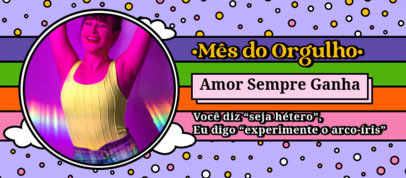 LGBT Pride Month-Themed Facebook Cover Generator With Fun Backgrounds 3607j