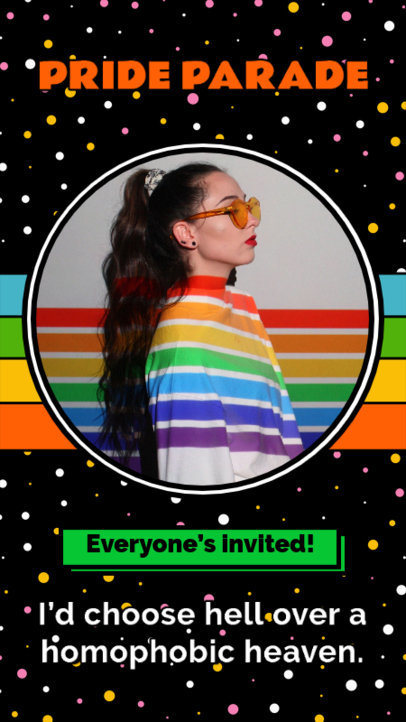 Instagram Story Generator for an LGBTQ Pride Parade 3607g
