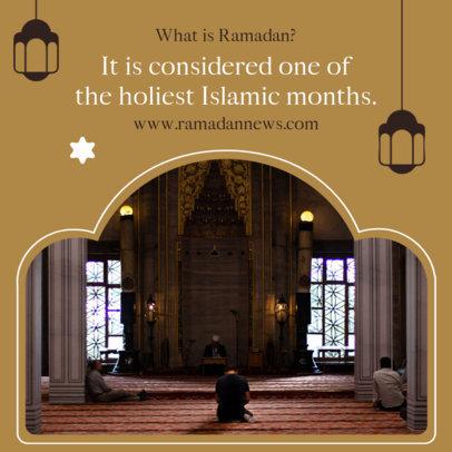 Instagram Post Generator with a Short Text of Ramadan 3883a-el1