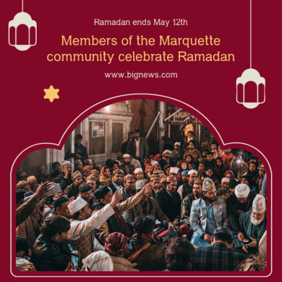 Instagram Post Creator for a Proper Ramadan Celebration 3883c-el1