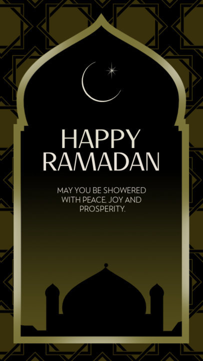 Instagram Story Design Maker Featuring a Mosque Graphic and a Ramadan Quote 3613d
