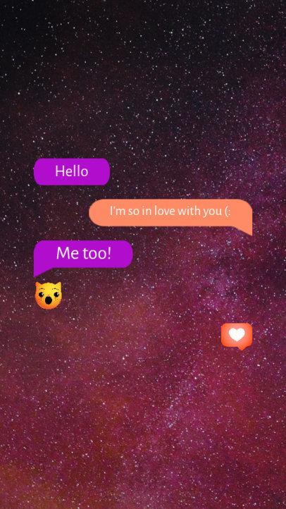 Instagram Story Generator Featuring a Romantic Text Conversation 3605b