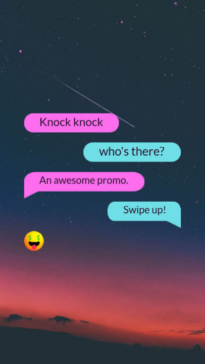 Instagram Story Maker for a Promo Featuring Text Messages and Fun Emojis 3605g