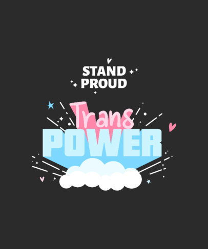 T-Shirt Design Template With a Trans Pride Theme 3840a-el1