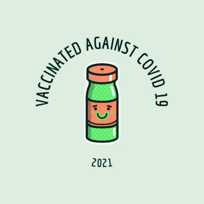 T-Shirt Design Generator Featuring a Cartoonish COVID 19 Vaccine Bottle 4282a