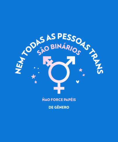 LGBT T-Shirt Design Template Supporting Gender Expression 3834d-el1