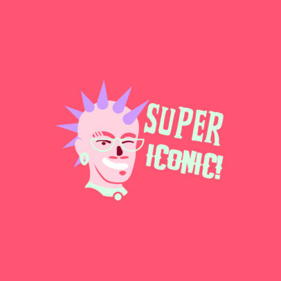 Illustrated Twitch Emote Logo Creator Featuring a Cool Avatar 4287b