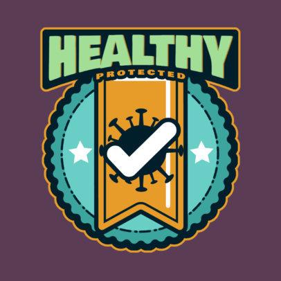 T-Shirt Design Maker with a COVID-Allusive Sticker 4280c