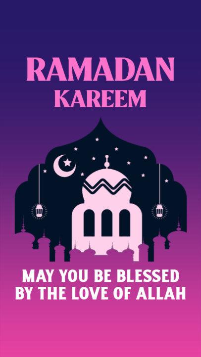 Instagram Story Maker Featuring Ramadan-Themed Illustrations 3614h