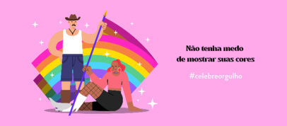 Facebook Cover Design Generator with an LGBT Quote and Illustrations 3610e