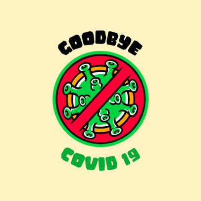 T-Shirt Design Maker Featuring a Blocked Coronavirus Illustration 4278e