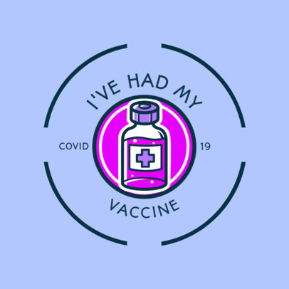 Illustrated T-Shirt Design Template for a COVID-19 Vaccination Campaign 4281i