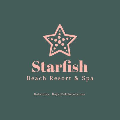 Beach Resort & SPA Logo Generator Featuring a Starfish Graphic 1761h 83-el