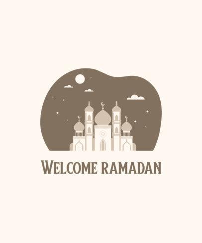 Monochromatic T-Shirt Design Generator for Ramadan 3615f
