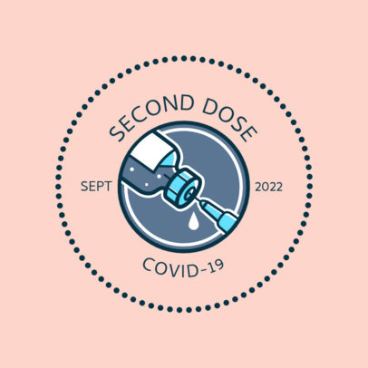 T-Shirt Design Creator with an Illustrated COVID-19 Vaccination Badge 4281H