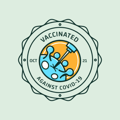 T-Shirt Design Maker Featuring a Coronavirus Vaccine Illustration 4281g