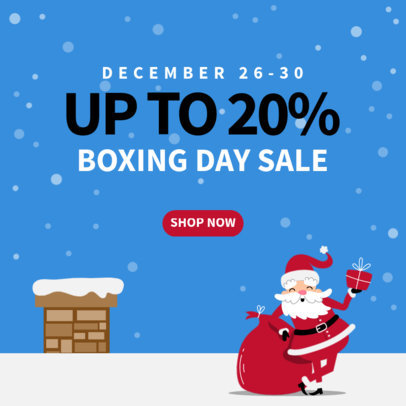 Christmas-Themed Instagram Post Generator for a Store's Sale 3308a-el1