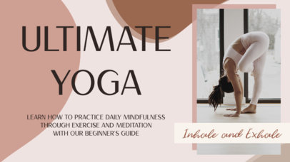 YouTube Thumbnail Creator for a Yoga Channel Featuring an Abstract Background 3636