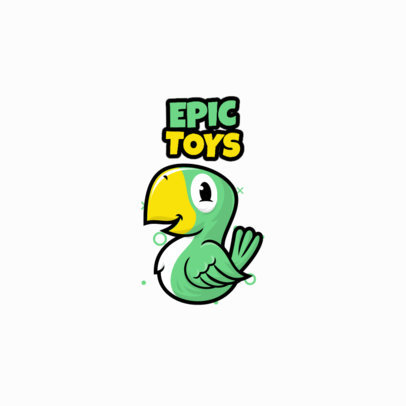 Toy Shop Logo Maker Featuring a Cute Parrot Clipart 3872c-el1