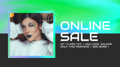 Youtube Thumbnail Design Generator for a Fashion Online Sale Featuring Colorful Frames 3631i