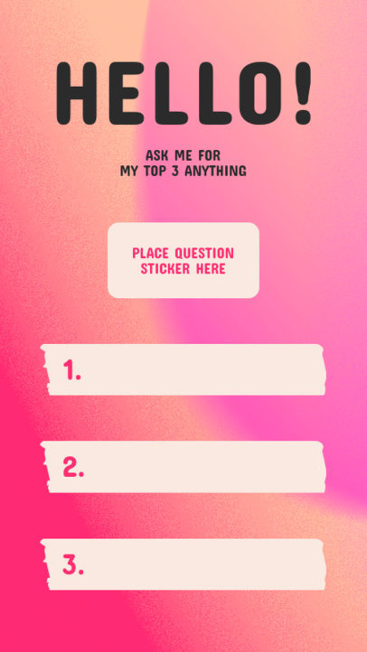 Quiz Instagram Story Design Template Featuring a Top-Three Question 3856f