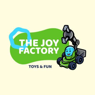 Toy Store Logo Creator Featuring a Robot Clipart 3870e-el1
