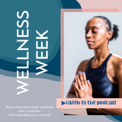Wellness-Themed Instagram Post Generator for a Podcast 3636a