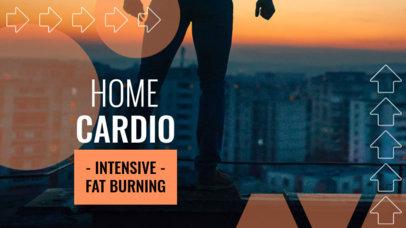 YouTube Thumbnail Design Creator Featuring a Home Cardio Routine  3633c