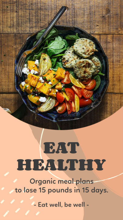 Instagram Story Design Generator Featuring a Healthy Meal 3632a