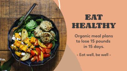YouTube Thumbnail Design Generator Featuring a Healthy Meal 3632a